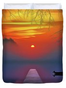 Golden Lake Duvet Cover by Harry Warrick