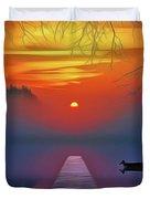 Golden Lake Duvet Cover