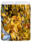 Golden Leaves Duvet Cover