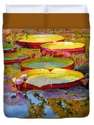 Golden Light On Pond Duvet Cover