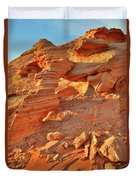 Golden Light On Valley Of Fire Arch Duvet Cover