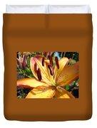 Golden Lily Flower Orange Brown Lilies Art Prints Baslee Troutman Duvet Cover
