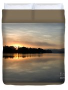 Golden Liquid Dawn Duvet Cover