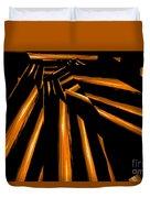 Golden Logs Duvet Cover