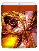 Golden Maelstrom Abstract Duvet Cover