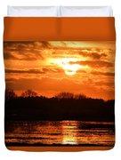 Golden Marsh Duvet Cover