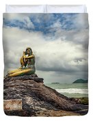 Golden Mermaid Thailand Duvet Cover