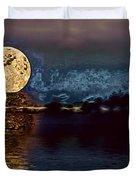 Golden Moon Duvet Cover