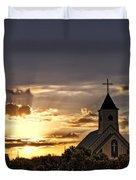 Golden Morning Light Duvet Cover by Saija  Lehtonen