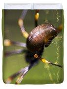 Golden Orb Spider Duvet Cover