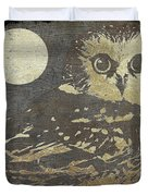 Golden Owl Duvet Cover