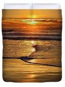 Golden Pacific Sunset Duvet Cover