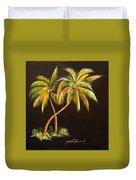 Golden Palms 2 Duvet Cover