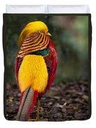 Golden Pheasant Duvet Cover