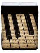 Golden Pianoforte Classic Duvet Cover