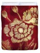 Golden Poppies Duvet Cover