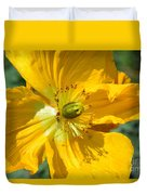 Golden Poppy Expose Duvet Cover