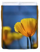 Golden Poppy Reaching For The Skies  Duvet Cover