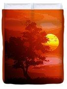 Golden Rays Of The Sun  Duvet Cover