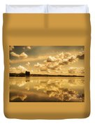 Golden Reflections At Moses Lake Duvet Cover