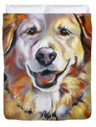 Golden Retriever Most Huggable Duvet Cover