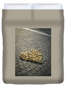 Golden Rocky Love Duvet Cover by Mary Lee Dereske