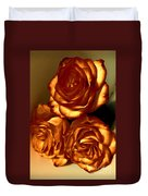 Golden Roses 3 Duvet Cover