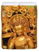 Golden Sculpture Duvet Cover
