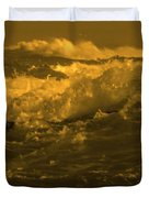 Golden Sea Waves Graphic Digital Poster Art By Navinjoshi At Fineartamerica.com Ideal For Wall Decor Duvet Cover
