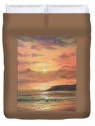 Golden Shoreline Duvet Cover