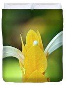 Golden Shrimp Plant Duvet Cover