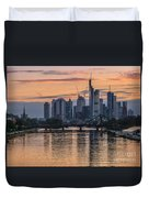 Golden Skyscraper Refelctions Duvet Cover