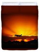Golden Skyway Duvet Cover