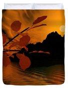 Golden Slumber Fills My Dreams. Duvet Cover