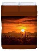 Golden Southwest Sunset  Duvet Cover