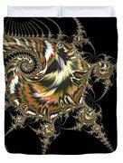 Golden Spirals And Spikes Duvet Cover