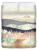 Golden Spring Reflection Duvet Cover