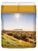 Golden Stanley Landscape Duvet Cover