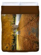 Golden Streets Duvet Cover