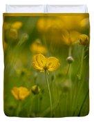 Golden Summer Buttercup 3 Duvet Cover