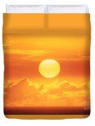 Golden Sunball Duvet Cover