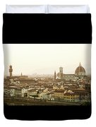 Golden Sunset Of Florence, Italy. Duvet Cover
