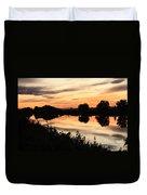 Golden Sunset Reflection Duvet Cover