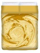 Golden Swirl Duvet Cover