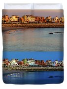 Golden To Blue Hour Puerto Sherry Cadiz Spain Duvet Cover