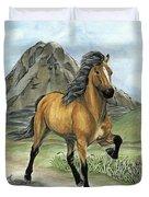 Golden Tolt Icelandic Horse Duvet Cover