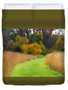 Golden Trail Duvet Cover