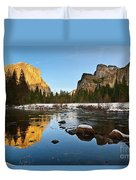 Golden View - Yosemite National Park. Duvet Cover