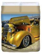 Golden Vintage Dodge Duvet Cover
