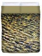 Golden Water On Mountain Lake Duvet Cover